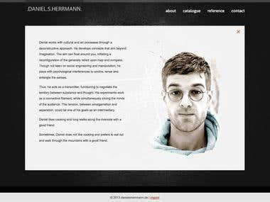 Custom WebDesign for ProductionDesigner