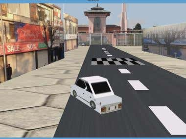A car racing game