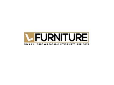 L Furniture logo design
