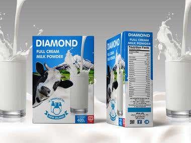 Development of packaging for milk powder