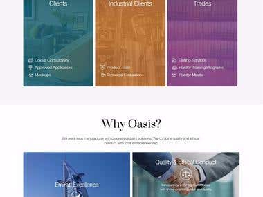 Drupal 7. Oasis is corporate site with beautiful design