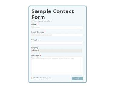HTML5 sample contact form
