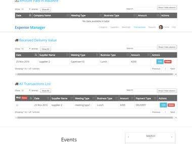 Expense Manger - Web Application