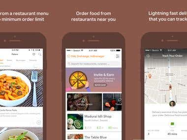 iOS & Android Food Ordering App