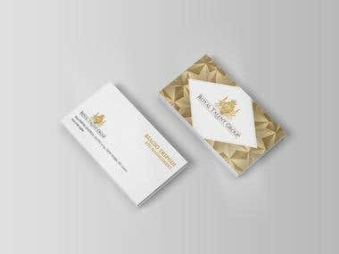 Business card design for Royal Talent Group