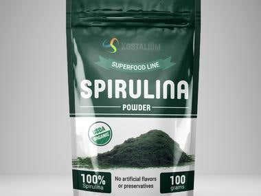 Development of packaging for spirulina