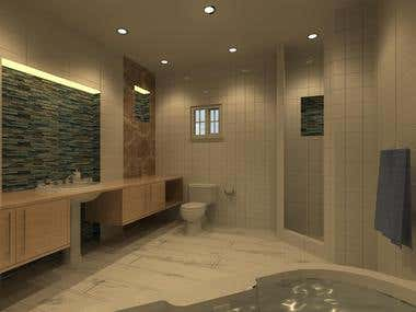 Interior Design of Master's Bathroom in Revit