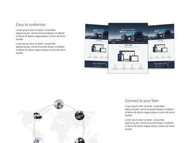 Responsive multilanguage website for fleet management tool
