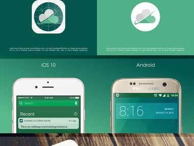 Bokning App Icon design