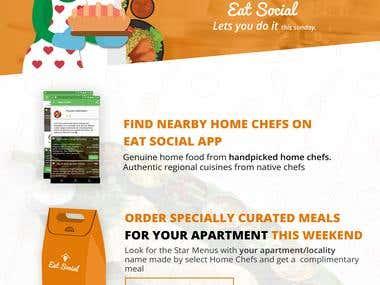 Eat Social Poster Design