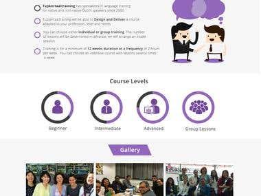 Language Training Website Mockup