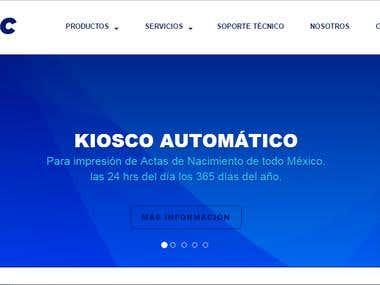 Pagina web creada con javascript