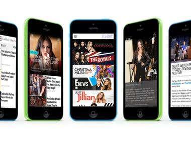 iOS Entertainment Television App