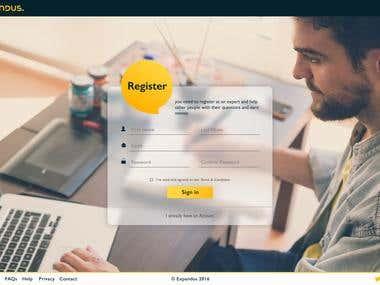 UI/UX Design + Responsive HTML conversion for a company