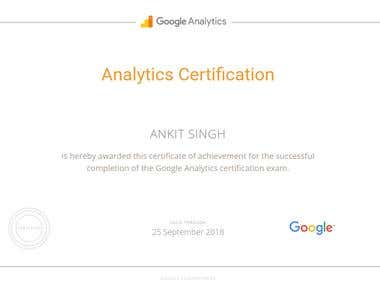 Google Analytics Certified Cleared