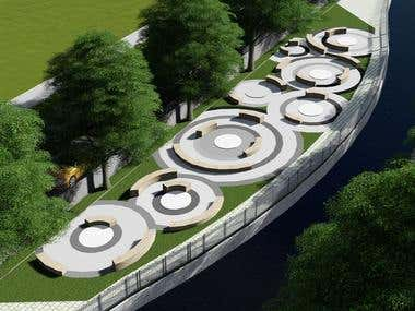 Canal beautification work in Municipality