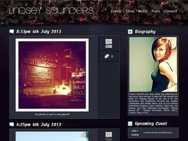 Lindsey Saunders - Responsive Website Design