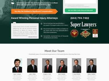 Injury Attorney Project. Desktop & Mobile Design
