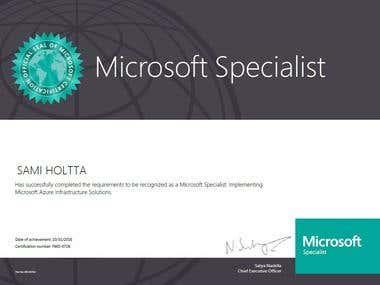 Azure Certificate, MCP
