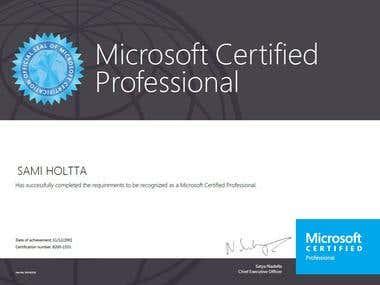 Certificate, MCP