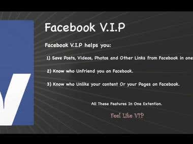 Facebook VIP Chrome Extension