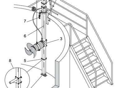 Wall mount for submersible pumps and mixers