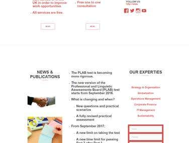 PLAB website WordPress