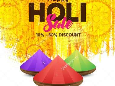Banner or Pamphlet design,Creative Flyer, Web Banner, holi s