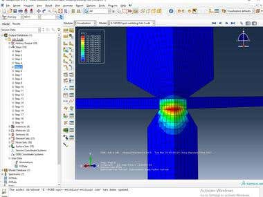 Resistance Spot welding Using Ansys and Abaqus
