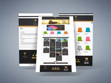 The Beach Palm Web design and build an online store