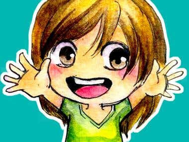Chibi self potrait