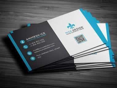 Simple business card design.