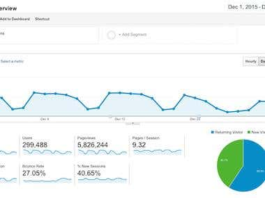 Google Analytic Real Time Audience Report