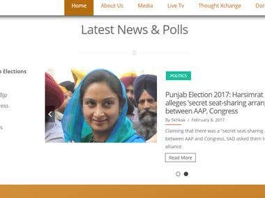 News Channel Website