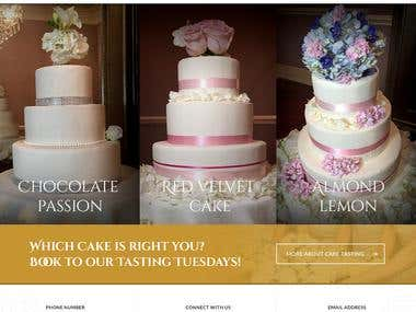 Simplistic Bakery Website. Home Page + Inner Pages.