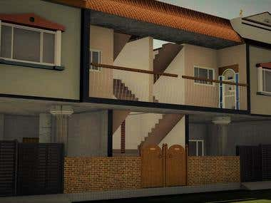 Duplex building Render