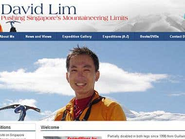 WordPress Website for David Lim