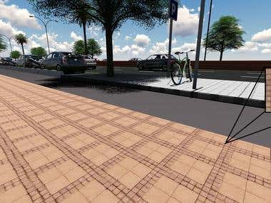 Render work for city infrastructure