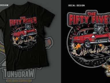 55's bell air illustration for t shirt