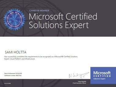 Cloud Computing Certificate, MCSE
