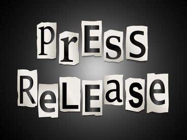 I Will Publish Your Written Press Release To Top Sites