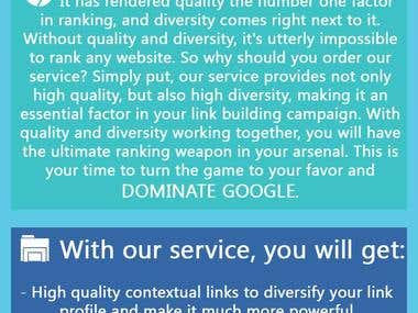 ontextual Backlinks + Powerful 1st Tier with Drip feed