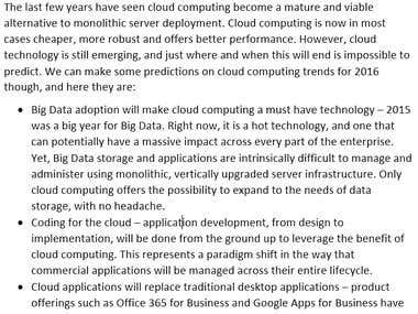 Business Technology - Cloud Computing Trends