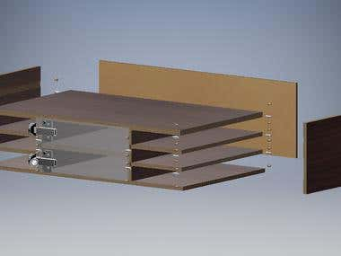 Shelf Design / Cabinet design for CNC, Machine Cutting