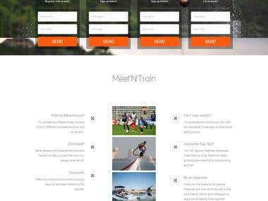 Landing page for Meetntrain