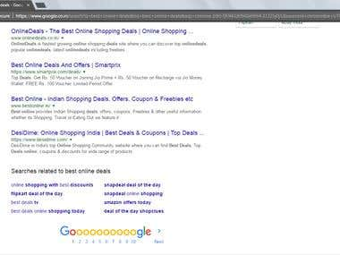 Best Online Deals Keyword Ranked on First Page Bestonline.in