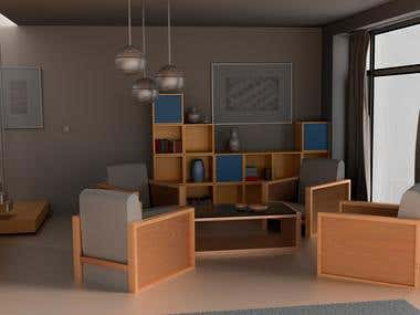 Living room rendering (Blender)