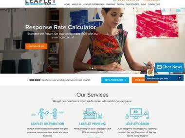 Leaflet Distribution Team Website