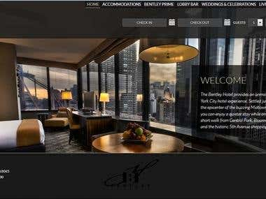 Bentley Hotel Website