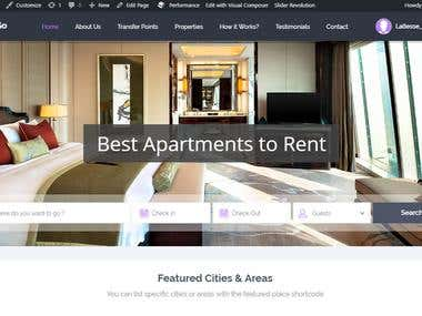 Booking properties website